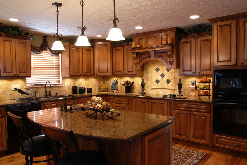 A beautiful interior of a custom kitchen
